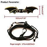 Vehomy Adjustable Lizard Leash Bat Wings Reptile