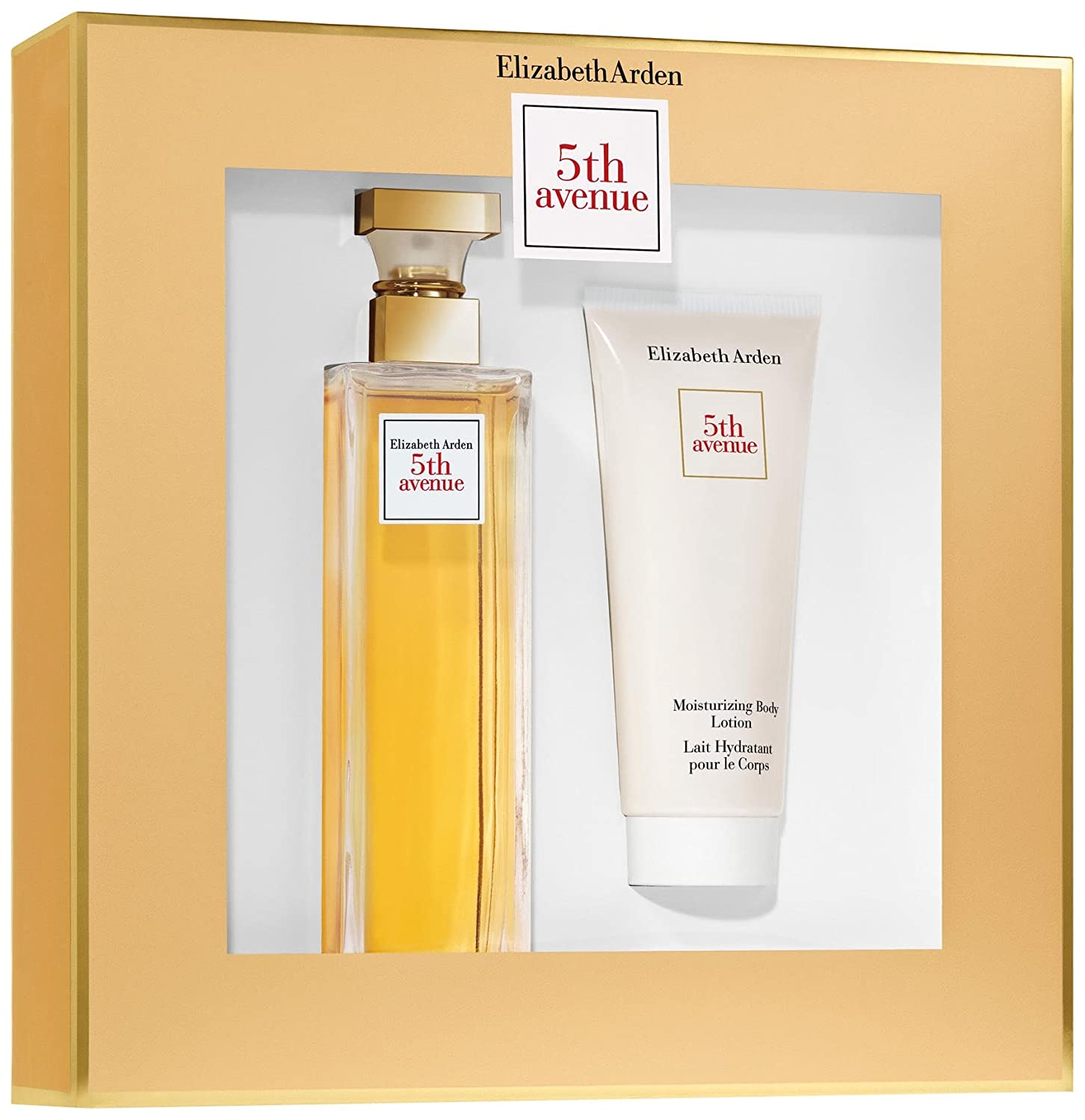 FIFTH AVENUE by Elizabeth Arden Gift Set for WOMEN: EAU DE PARFUM SPRAY 4.2 OZ & BODY LOTION 3.3 OZ ELIZABETH-390600