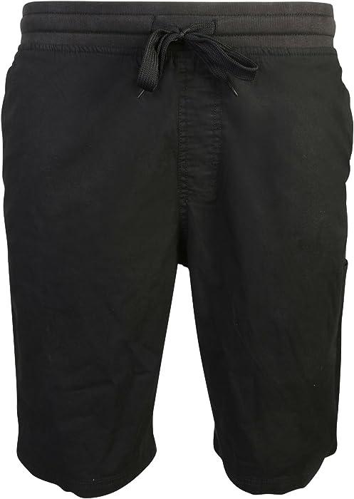 14e656a08f Beverly Hills Polo Club Men\'s Pull On Twill Stretch Short, Black ...