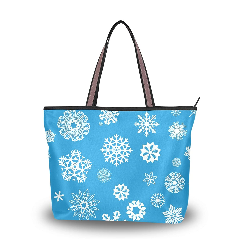 ABLINK Snowflakes Pattern Handbag Large capacity bag Shoulder Bag