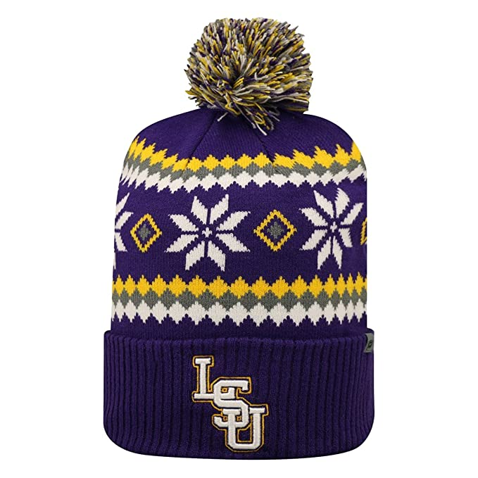 375bc433c Amazon.com: LSU Tigers NCAA Fogbow Cuffed Knit Beanie Hat by Top of ...
