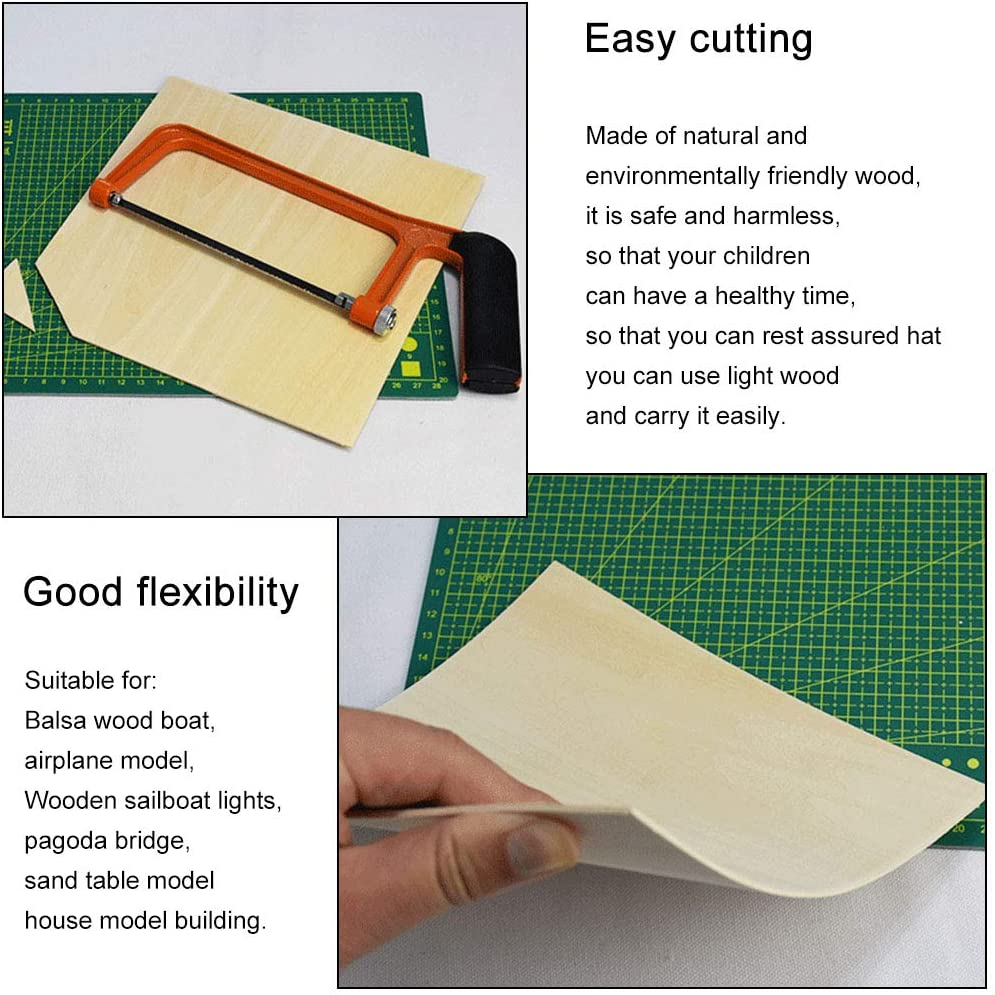 Wooden Plate Sheets House Aircraft 1mm~8mm Model Material Latest Useful