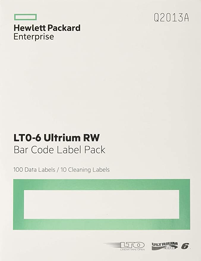 3-06397-04 Data Cartridge bar Code Labels LTO Ultrium 6 DISTRIBUTION QUANTUM