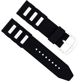 26MM SILICONE RUBBER DIVER BAND STRAP FOR INVICTA EXCURSION 18202 BLACK #21R