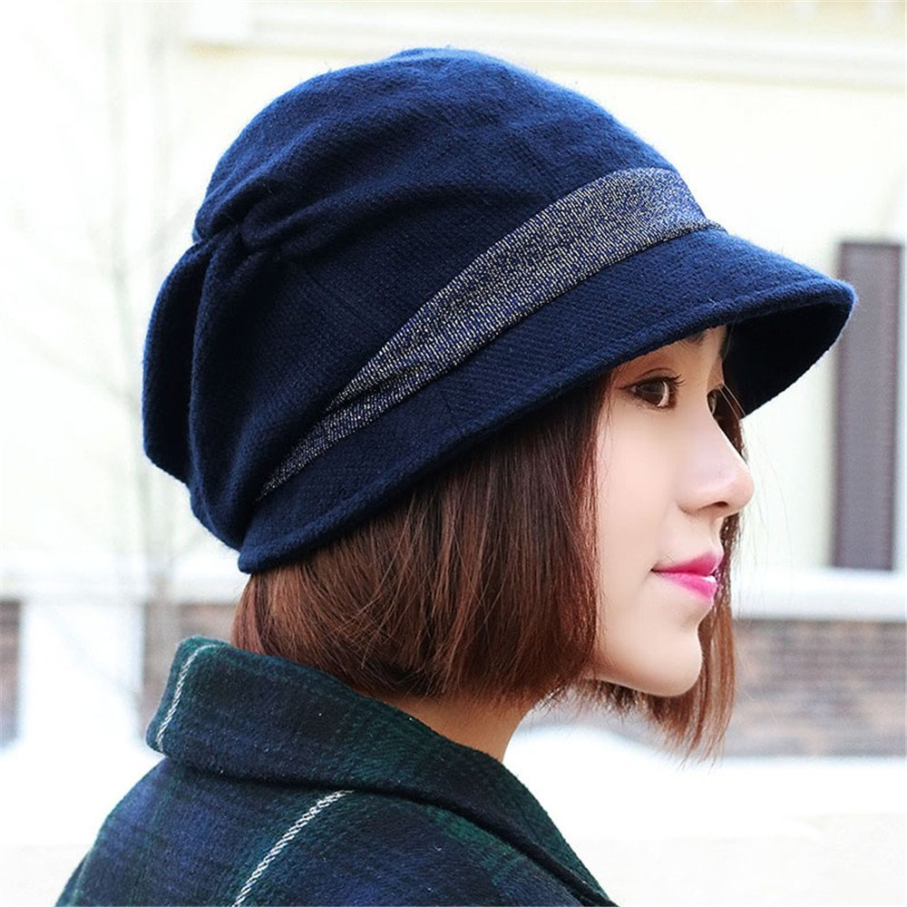 In autunno e in inverno la moda donna lady face Hat Beret donne cofano femmina svago tutto-match tap...