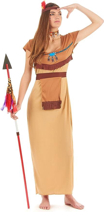 Disfraz de india para mujer - XL: Amazon.es: Juguetes y juegos