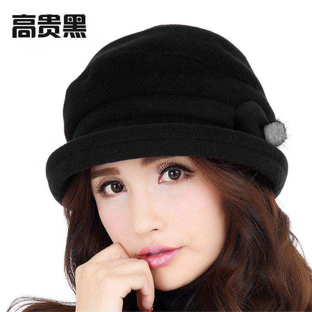 La mujer elegante sombrero de moda femenina gorro de de invierno.,M (56-58cm) Reglamento de Sweat Ba...