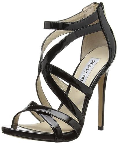 aa0efd0a58 Steve Madden Womens Stella Fashion Sandals 0614508150057039 Black 4 UK, 37  EU, 6.5 US
