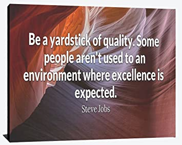 Be A Yardstick Of Quality Enviroment Where Excellence Is Expected Steve Jobs Success Relentless Fearless Perseverance