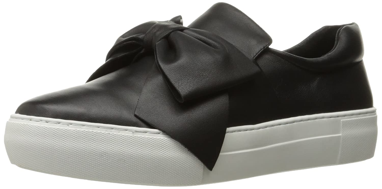J Slides Women's Beauty Fashion Sneaker B01MCTK2E3 8.5 B(M) US|Black Leather