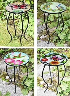 Deuba Garden Mosaic Table With Powder Coated Steel Structure Outdoor