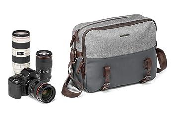 Manfrotto MB LF-WN-RP Maletín clásico Gris Estuche para cámara fotográfica - Funda (Camera Messenger, Universal, Gris, Cuero, Nylon, 115 mm, 370 mm)