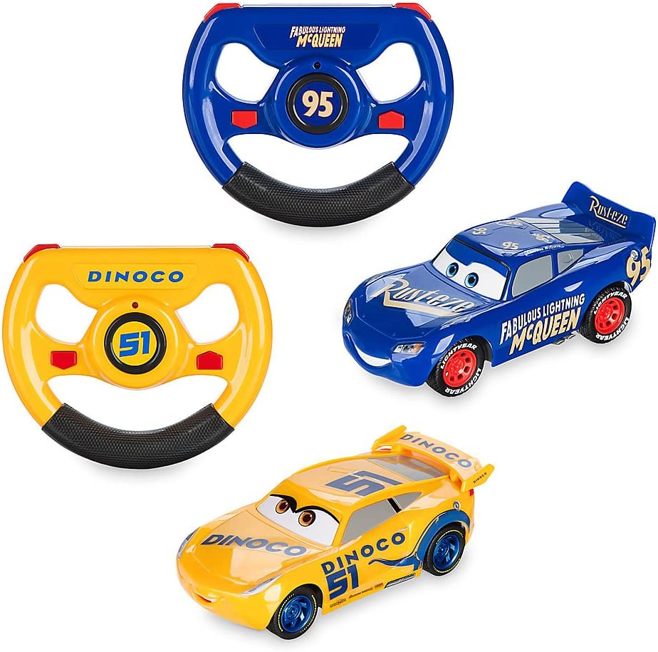 Amazon Com Disney Lightning Mcqueen Cruz Ramirez Rc Twin Pack