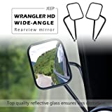 Jeep Wrangler Mirrors Doors Off, AutoEC Shake-proof Off-Road Rectangular Adventure Mirrors, Quick Release Side Rear View Mirrors Fits All Jeep Wrangler JK CJ YJ TJ