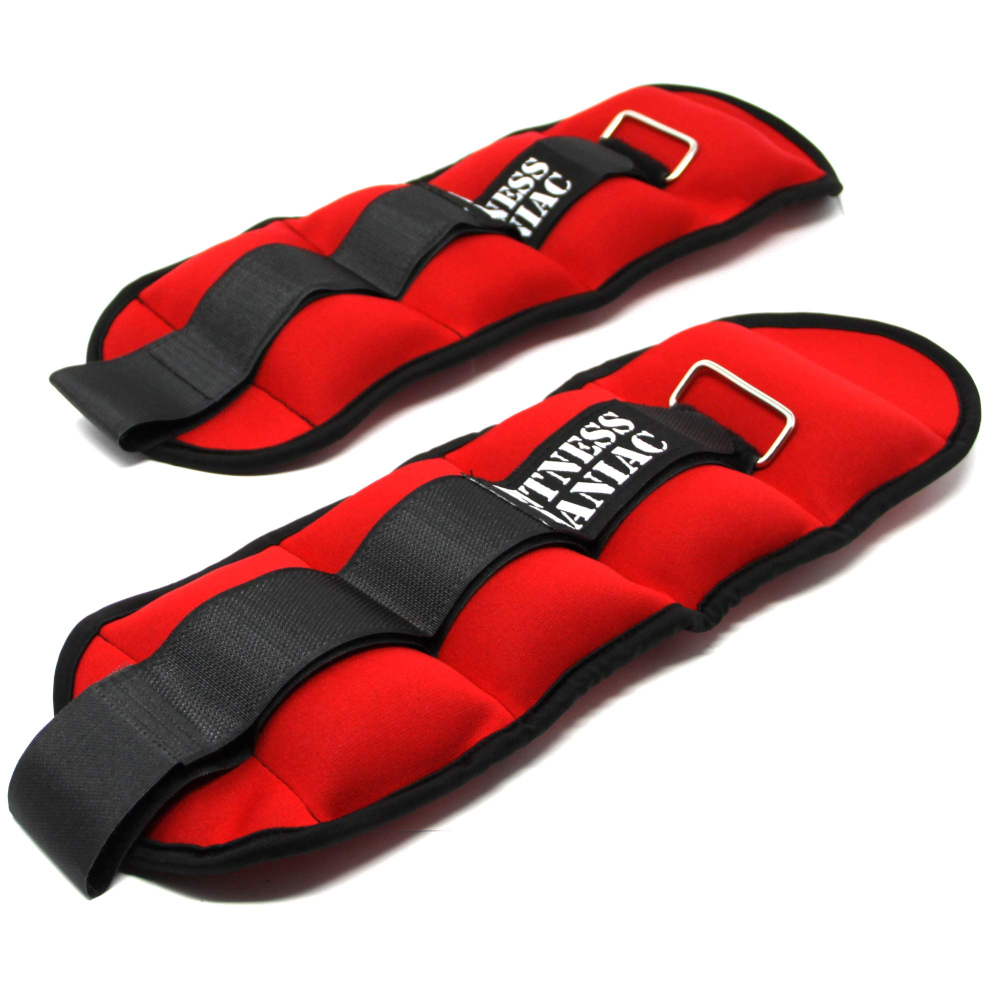 Adjustable Strap Wrist Ankle Weights 4lbs 6lbs 8lbs 10lbs Fitness Training Leg Exercise (4) by FITNESS MANIAC (Image #6)