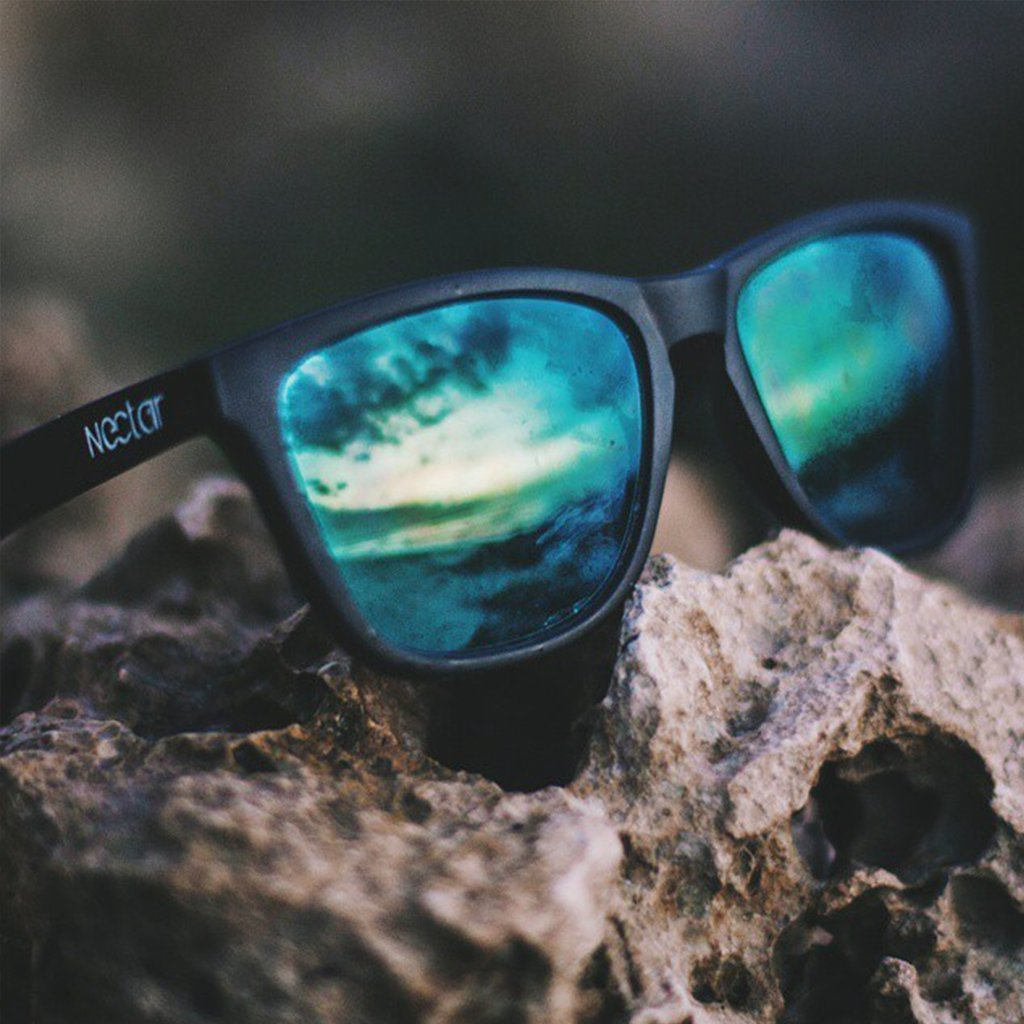 ac2f89a7d1 Amazon.com  Black Polarized Sunglasses For Men And Women With Blue Lenses