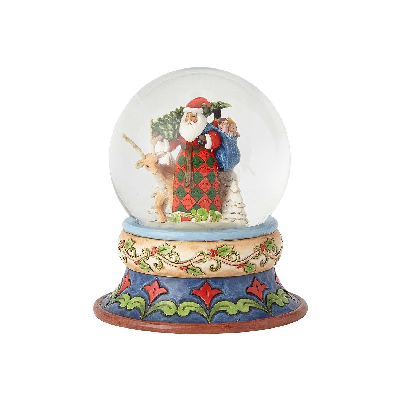 Multicolore Enesco 4058796 Babbo Natale Waterball Resina 10 x 10 x 13.5 cm