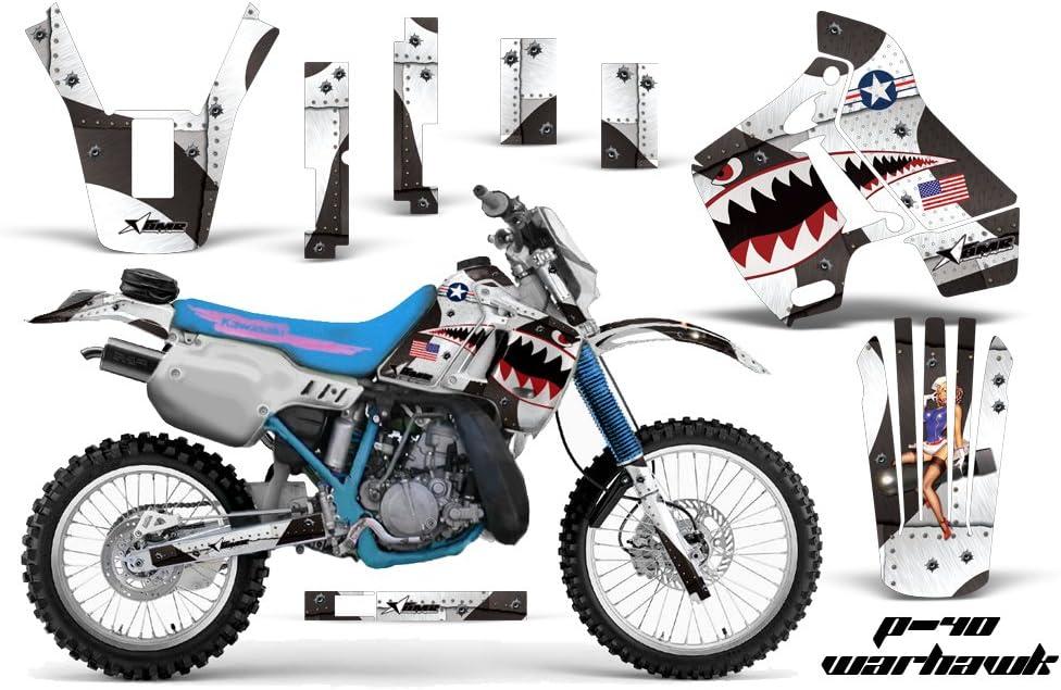 SCATTER Team Racing Graphics kit compatible with Kawasaki 1991-1994 KDX 200