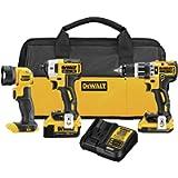 DEWALT 20V MAX XR Cordless Drill Combo Kit, Compact, 3-Tool (DCK387D1M1)