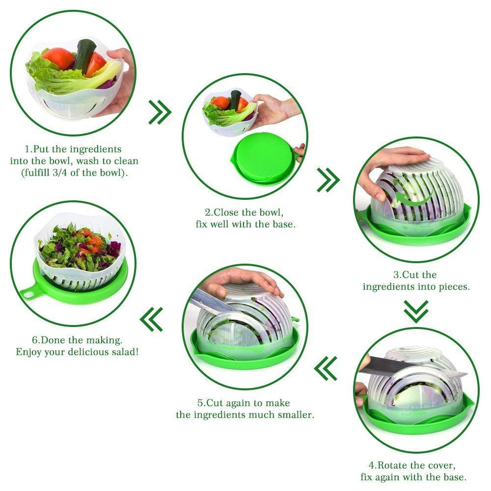 Salad Bowl-Salad - Bol para cuchillos, mezclador ...