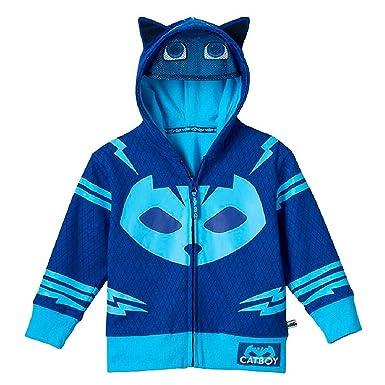 PJ MASK Toddler Catboy Hoodie Catboy Zip-Up Costume Hoodie (Blue, 5T)