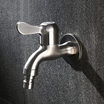 Grifo Grifo para lavadora de acero inoxidable Grifo para fregadero montado en la pared Grifo G1 / 2 Boquilla para jardín exterior Grifo-A1: Amazon.es: Bricolaje y herramientas