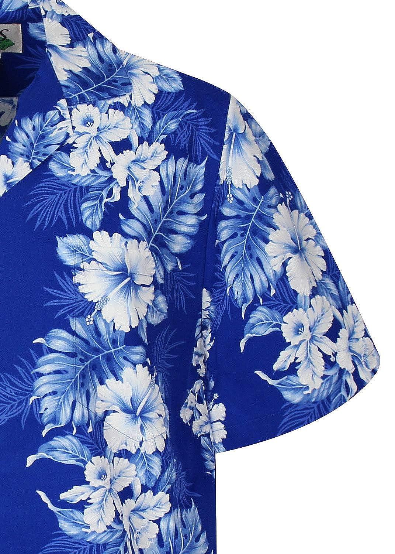 Original Hawaiian Shirt Men Short Sleeve Front-Pocket FlowerGarland Designs