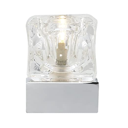 Hielo touch table lamp chrome clear glass ice cube table light hielo touch table lamp chrome clear glass ice cube table light 3893cc mozeypictures Gallery