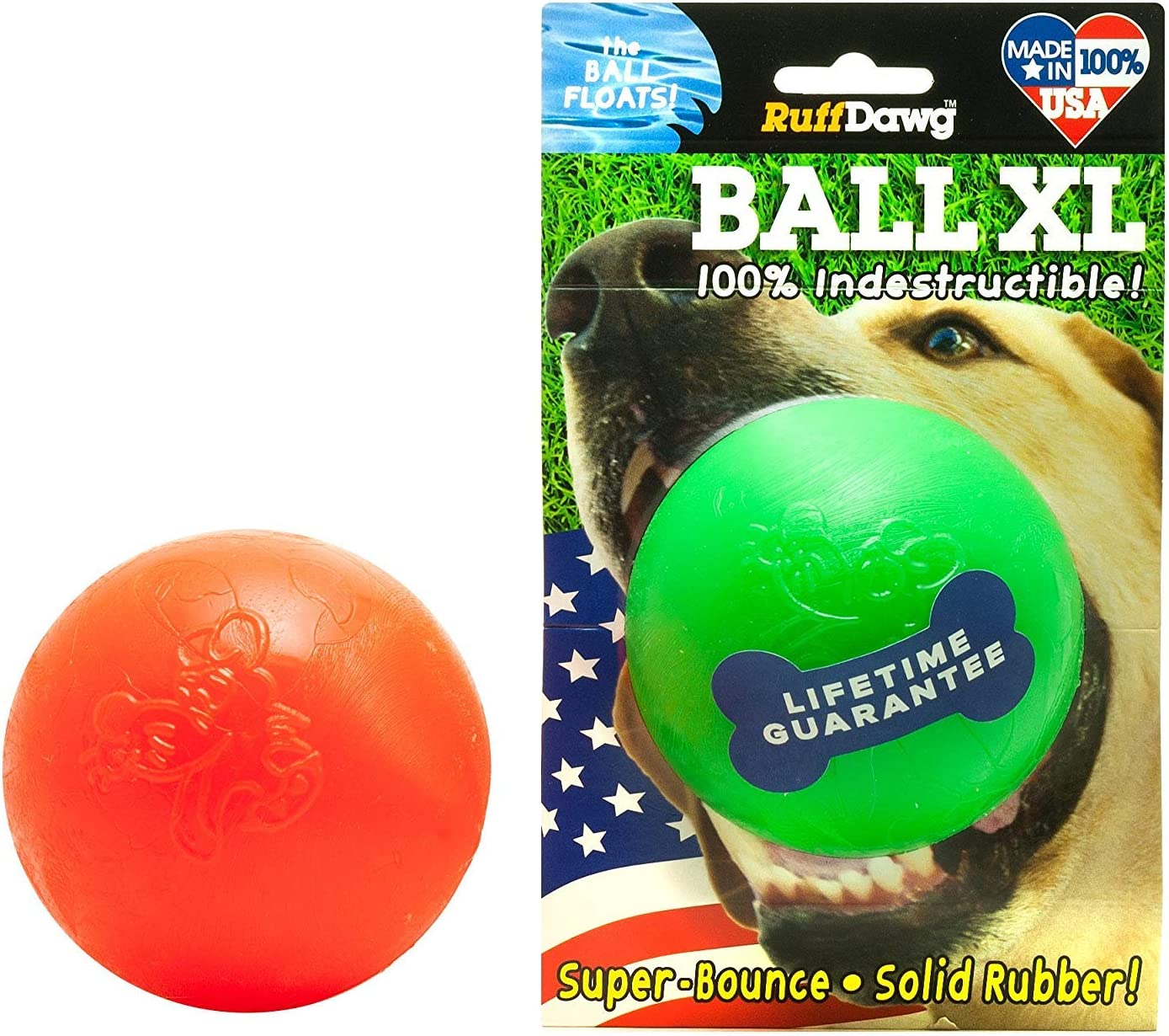 Pet Supplies : Pet Toy Balls : Ruff Dawg Ball XL Solid Rubber Dog ...