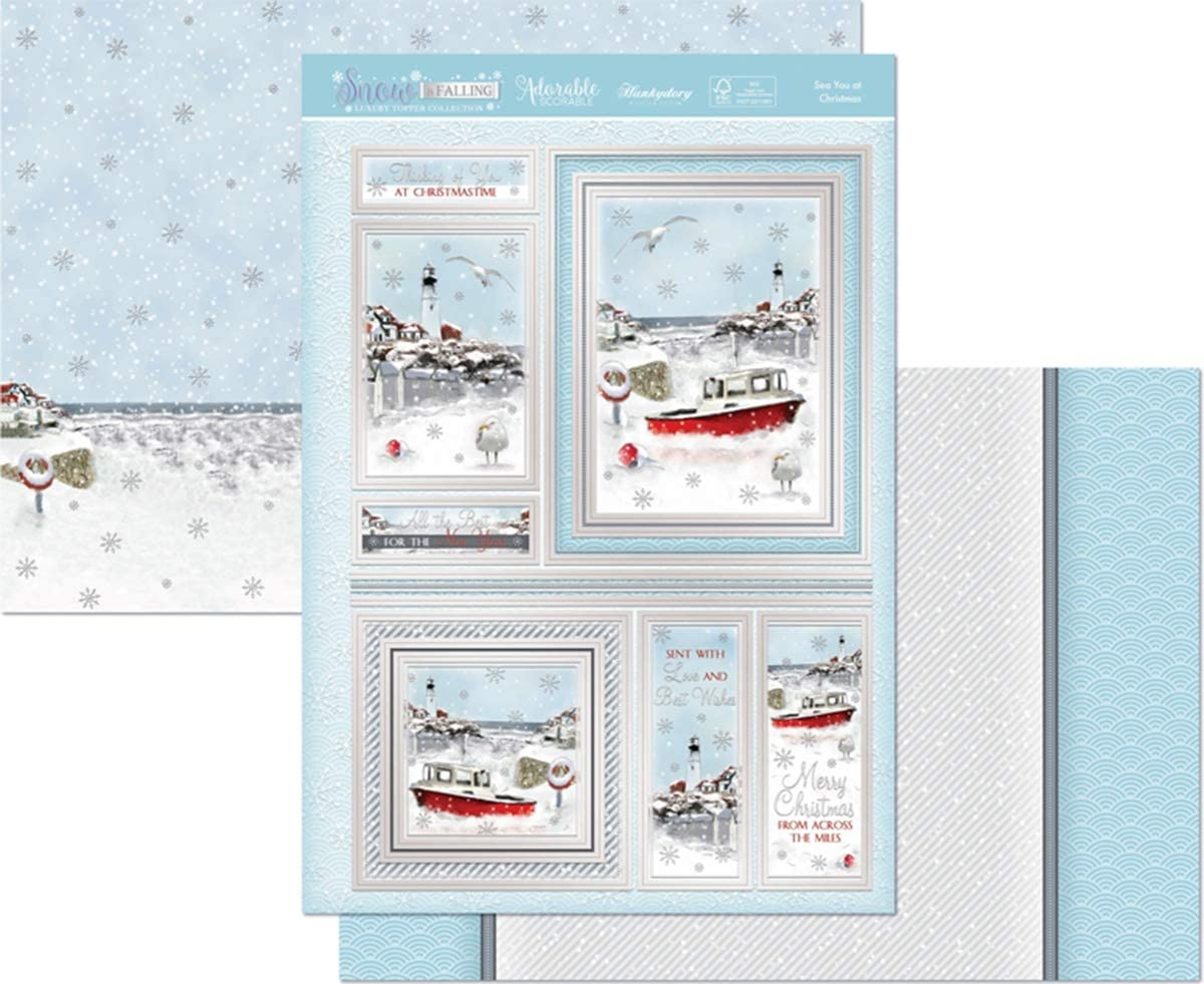 Hunkydory Snow is Falling Sea You At Christmas 3-pc Topper Collection