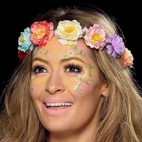 f1d378aca Amakando Set de Maquillaje de Agua Hippie / Color Pastel / Kit de  cosméticos para Festival
