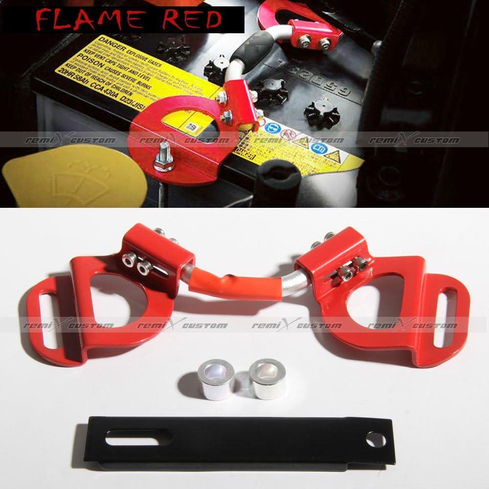 Red Battery Tie Down Bar Bracket For 2013 2014 2015 2016 2017 Scion FRS//Subaru BRZ
