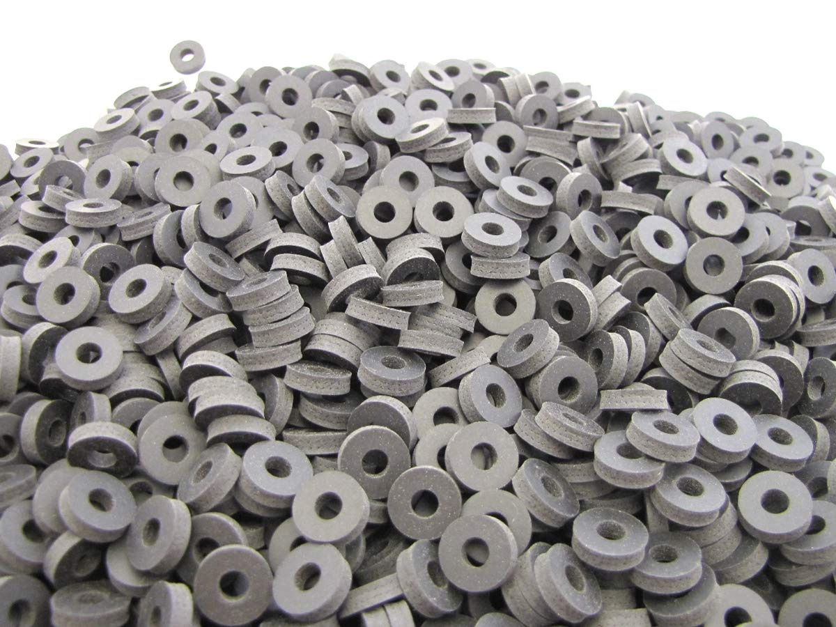 (100) Performance Series 2 Ply Nylon Reinforced Neoprene Rubber Washers | 1/2'' OD X 3/16'' ID X 1/8'' Inch Thickness