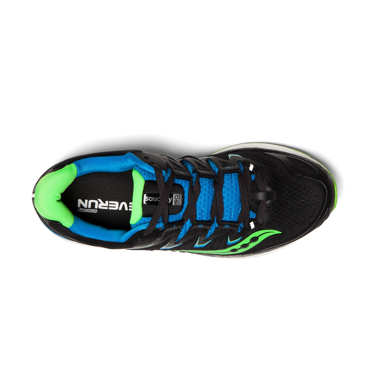 Saucony Men's Triumph Iso 4 Running Shoe B078PMHFG5 10.5 D(M) US|Black/Slime/Blue
