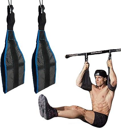 Sports Gym Hanging Weightlifting Straps Bar Sling Abdominal Exercise Rings