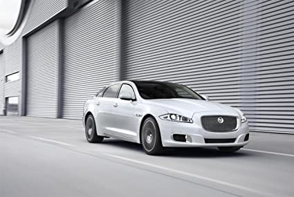 Jaguar XJ Ultimate Car Art Poster Print On 10 Mil Archival Satin Paper  White Front Side