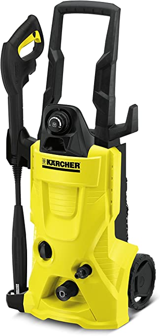 Kärcher K 4 HOME Vertical Eléctrico 420l/h 1800W Negro, Amarillo Limpiadora de alta presión o Hidrolimpiadora - Limpiador de alta presión (Vertical, Eléctrico, 6 m, Negro, Amarillo, 420 l/h, 130 bar): Amazon.es: