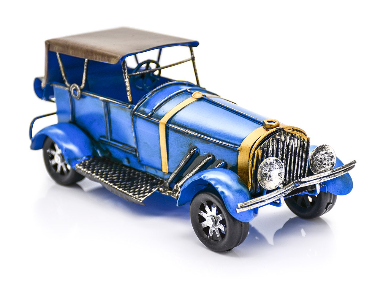 Metal Vintage Car Model Antique Car Toys For Decoration, Collection, Gift (Yellow) JLER