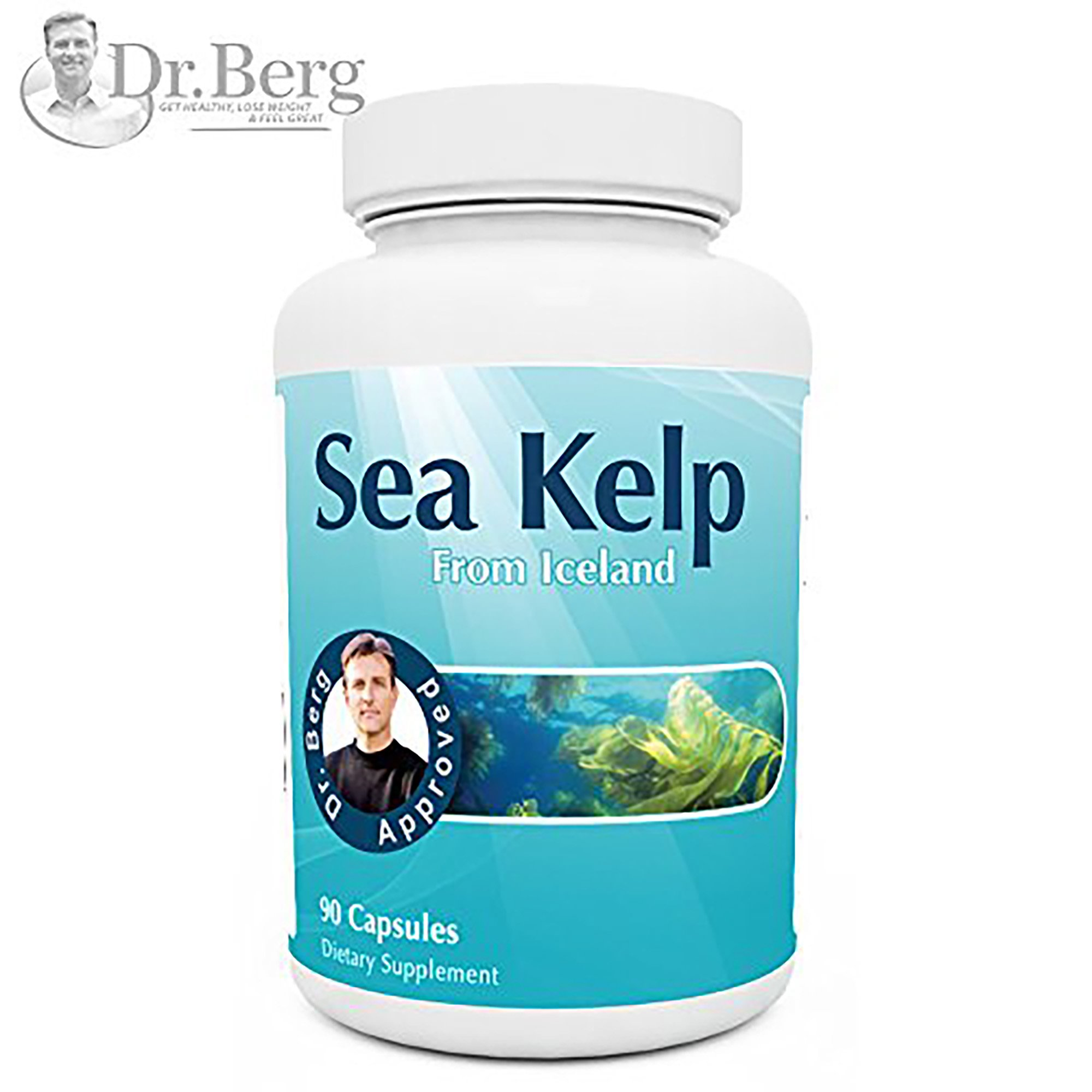 Icelandic Sea Kelp Supplement - Pure Icelandic Sea Kelp - Natural Iodine & Sea Nutrients - 90 Capsules