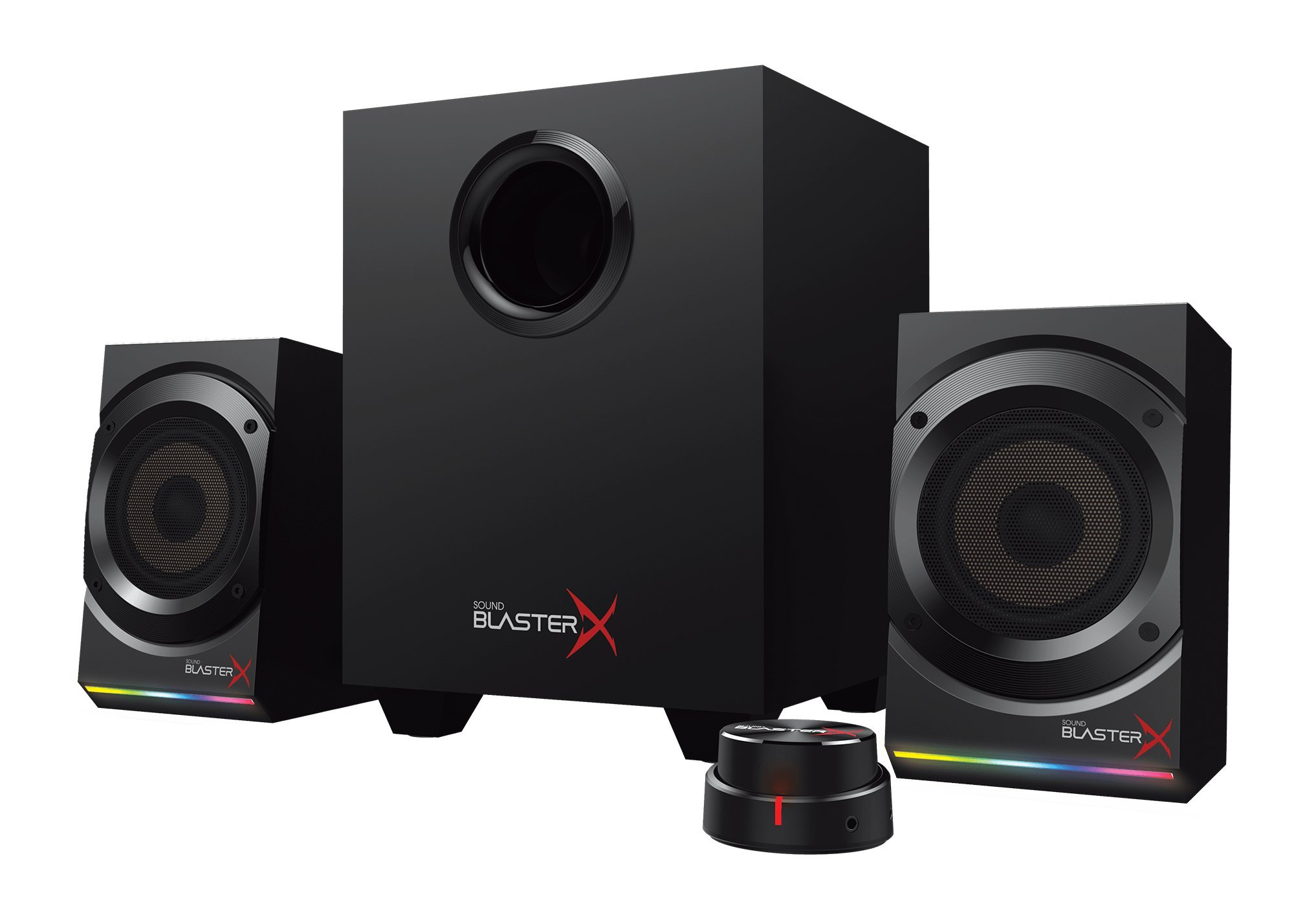 Sound BlasterX Kratos S5 2.1 PC Computer Gaming Speaker System with Subwoofer and Customizable RGB Lighting - 51MF0470AA001 by Creative