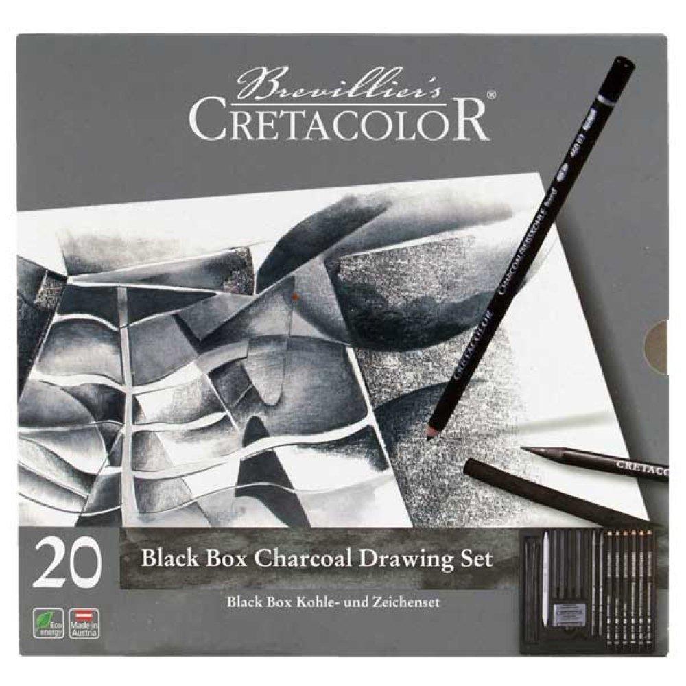 Cretacolor Blackbox 20 Pezzo Carbone Set SAVOIR-FAIRE