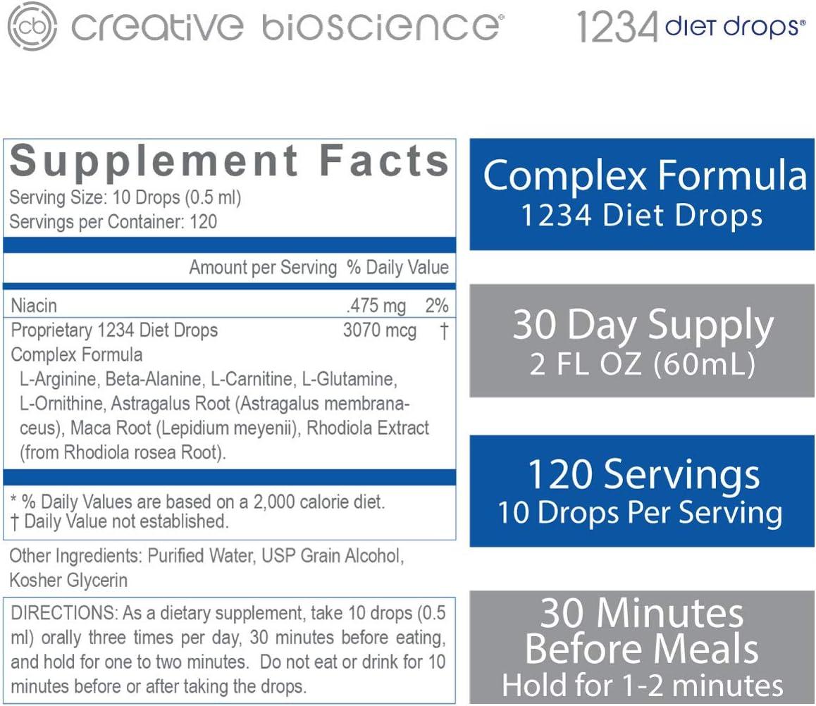 dieta creativa bioscienze 1234 gocce 2 fl oz 3 pk