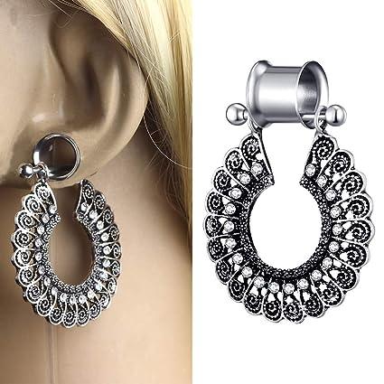 1 Pares Expansores Ear Flesh Túnel Dilatación Colgante Tipo ...