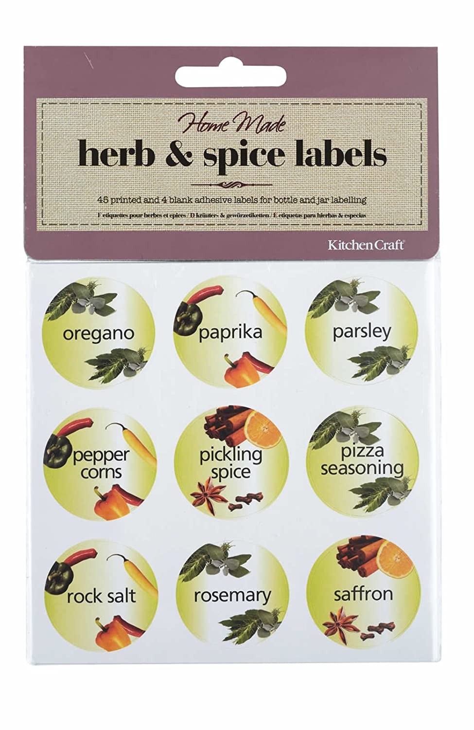 Herb & Spice Bottle Labels Kitchen Craft KCSPICELAB