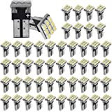 YINTATECH 50 Pieces T10 Wedge 9-SMD Super White Interior LED Car Lights Bulb W5W 168 194 2825 161 158 192