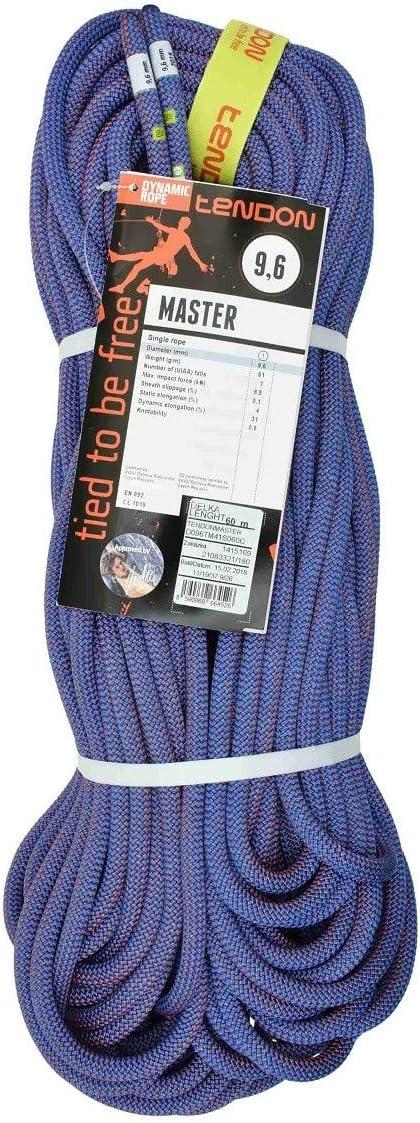 Tendon Master 9.6 - Cuerda dinámica (70 m), Color Azul y Rojo ...