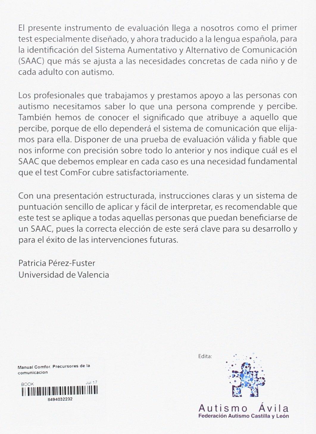 MANUAL COMFOR. PRECURSORES DE LA COMUNICACION: 9788494032233: Amazon.com: Books