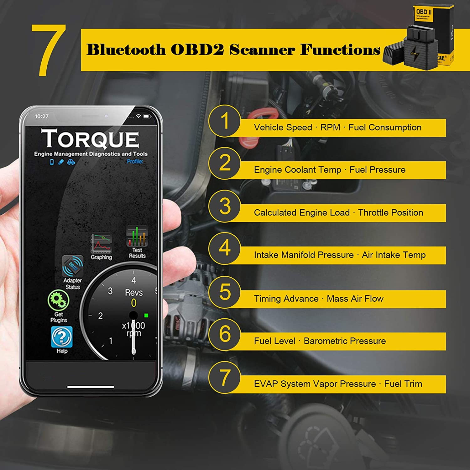 14CM//5.5inch AUTOOL OBDII OBD2 16Pin Male to Female Extension Cable Diagnostic Extender Cord for Wireless OBD 2 OBD2 OBDII Car Code Reader Scan Tool