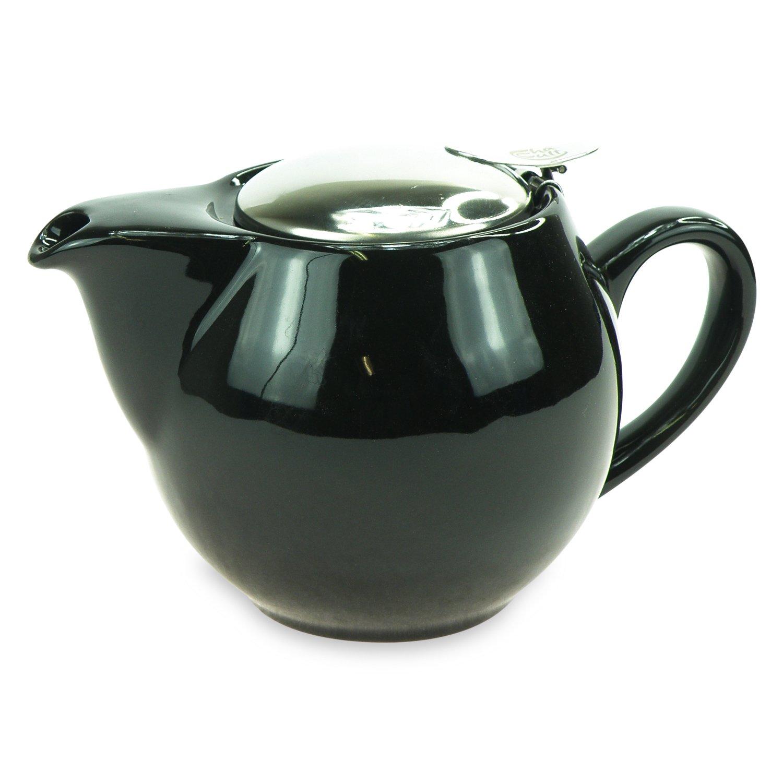 con filtro Tetera de porcelana Saara negro 0,5/L