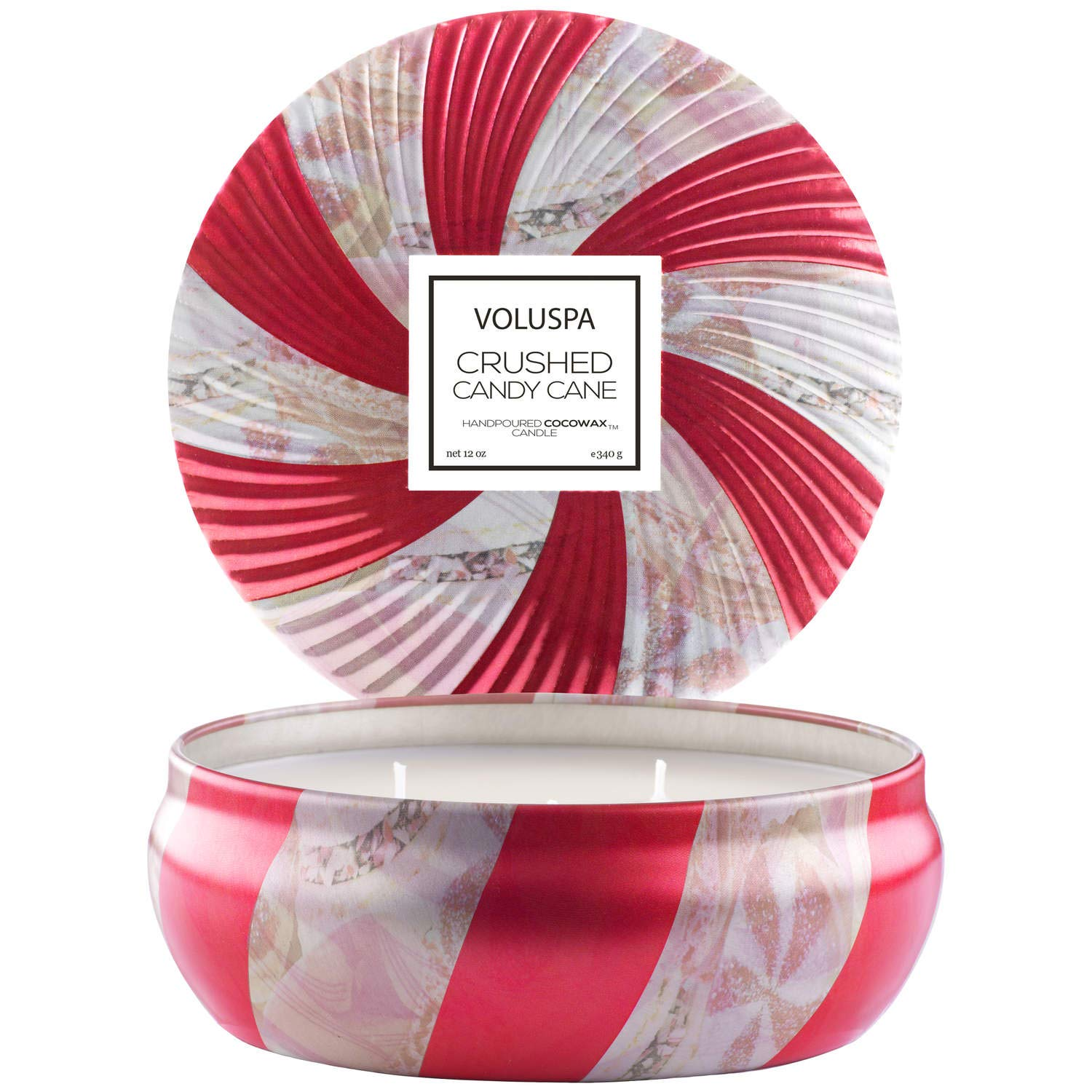 Voluspa Crushed Candy Cane 3 Wick Tin Candle